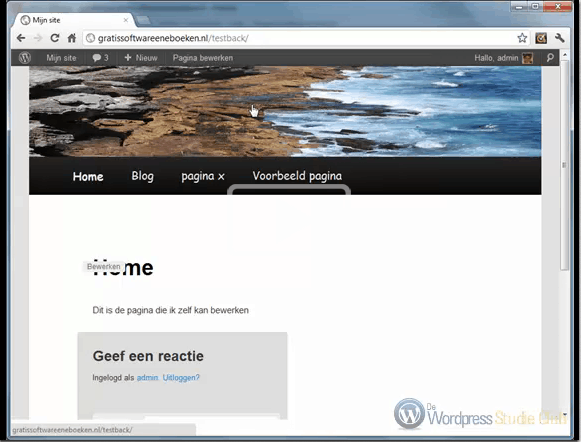 WordPress twenty eleven template aanpassen!